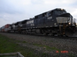 NS 9365 & NS 2676 lead this EB COFC Train thru Cresson